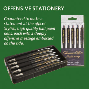 Offensive Office Stationery